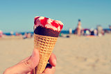 ice cream on the beach