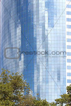 Modern office buildings and skyscraper background