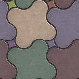 Multicolor Paving Stone as Quatrefoil.
