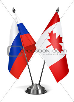 Canada and Russia - Miniature Flags.