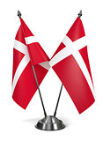 Denmark - Miniature Flags.