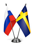Sweden and Russia - Miniature Flags.