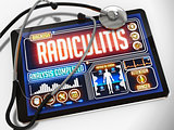 Radiculitis on the Medical Tablet.
