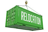 Relocation - Green Hanging Cargo Container.
