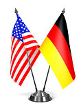USA and Germany - Miniature Flags.