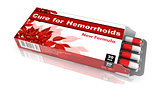 Cure For Hemorrhoids, Red Open Blister Pack.