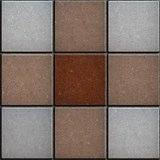 Three Colors Brick Pavers. Seamless Texture.