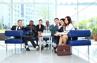Group of business colleague in a meeting