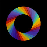 Spectrum of visible light- color wheel design