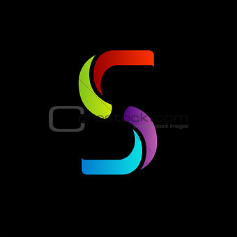 Abstract logo for letter S