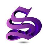 3d alphabet S