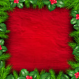 Christmas Frame From Holly Berry