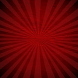 Retro Red Sunburst Poster