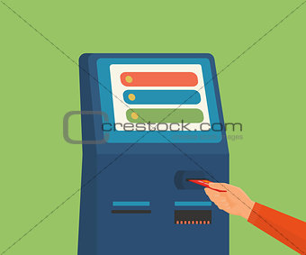 access to ATM machine