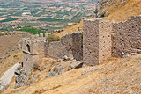Walls of the ancient fortress.