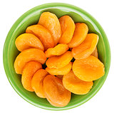 bowl of dried apricots
