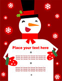 Snowman - banner or background for text