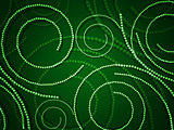 Green swirls from circles
