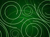 Green swirls from circles
