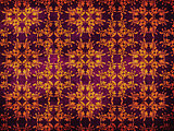 Grunge yellow pattern on purple background