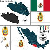 Map of Guerrero, Mexico