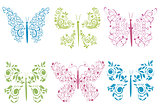 ornament colored butterflies