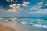 Tropical Beach ay Sunset