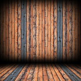 striped wood planks on wall and floor