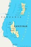 Zanzibar Political Map
