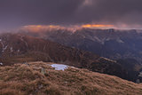 Sunrise in Fagaras Mountains