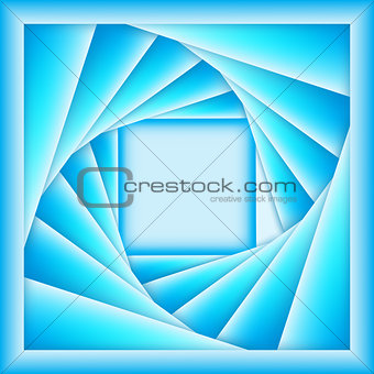 3d squares and shadows in blue
