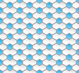 Seamless hexagon pattern background