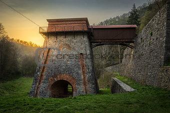 Old Blast Furnace near Adamov