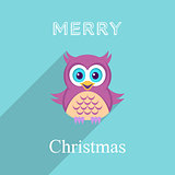 Christmas card with owl