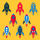 Rocket icons collection