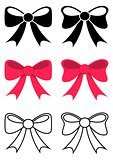 Black and red bows