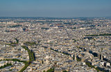 Arc de triomphe from the Eiffel Tower, Paris