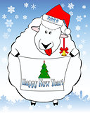 holiday illustration lamb