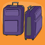 Two Purple Suitcases