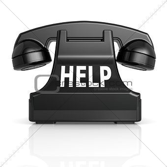 Black help phone