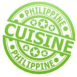 Philippine cuisine stamp
