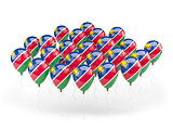 Balloons with flag of namibia