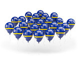 Balloons with flag of nauru