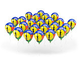 Balloons with flag of new caledonia