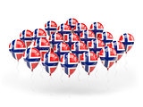 Balloons with flag of norway