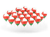 Balloons with flag of oman