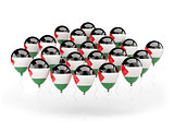 Balloons with flag of palestinian territory