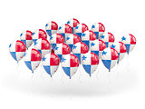 Balloons with flag of panama