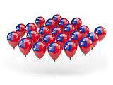 Balloons with flag of samoa