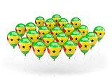 Balloons with flag of sao tome and principe